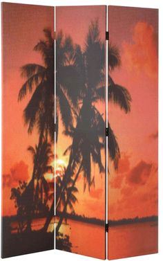 Paradise Room Divider - their pictures are a bit naff - try to find a company which can print your photos or a plain one to use as an art canvas? Room Divider Screen, Room Dividers, Decorative Screens, Print Your Photos, Wind Turbine, Beach House, Paradise, Canvas Art, House Ideas