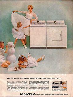 Maytag washer/dryer Ad 1950's.