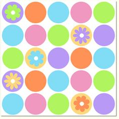 Spring Dots Beverage Napkins 16pk - Spring Dots Party Supplies