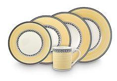 #yellow & #gray dinnerware | Audun Fleur collection