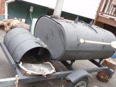 homemade grills and smokers | Homemade Smoker Trailer