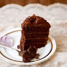 Chocolate fudge cake recipe - Woman And Home- use Doves Farm gluten free self raising flour to make it gluten free