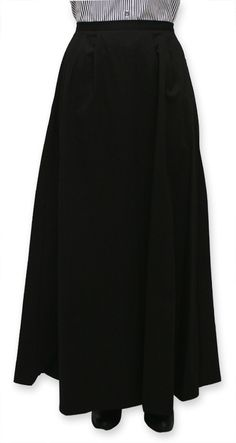 Cotton Twill Walking Skirt - Black $64.95