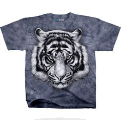 77cce4cc8a3 Tiger Glare Tie Dye Graphic Tee by Liquid Blue