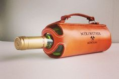 Leather Wine Bottle Carrier, 'Cause Holding a Bottle is For Chumps | Man of Many