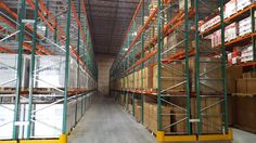 California warehouse installation with seismically engineered FlexRack® pallet rack from Next Level. Storage Solutions, Warehouse, Pallet, California, Shed Base, Shed Storage Solutions, Palette, Pallets, Wooden Pallets