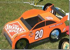 race car made of cardboard