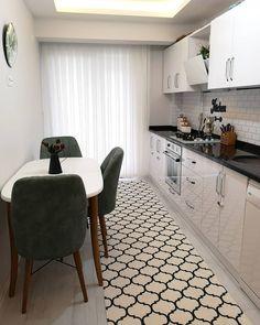 Kitchen Room Design, Home Decor Kitchen, Kitchen Interior, Home Kitchens, Apartment Furniture, Furniture Arrangement, House Rooms, Cheap Furniture, Home Living Room