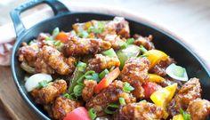Recept: Krokante kip in zoetzure saus (koe lo kai) - Savory Sweets Spicy Recipes, Asian Recipes, Chicken Recipes, Healthy Recipes, Asian Cooking, Healthy Cooking, Sour Foods, Asian Kitchen, Good Food