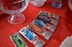 Candy bar. Шоколадки для вечеринки с Тачками. Cars party