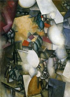 Smokers by Fernand Leger, 1912.  Art Experience NYC  www.artexperiencenyc.com/social_login/?utm_source=pinterest_medium=pins_content=pinterest_pins_campaign=pinterest_initial