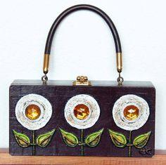 Enid Collins 196668 Papier Mache Box Bag Lollipops by niwotARTgallery, SOLD