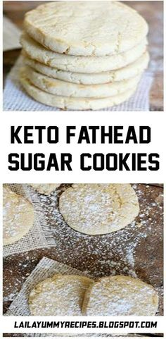 Fathead dough is a popular low carb dough that has revolutionized pizza. It is used in many savory and sweet applications like these keto fathead sugar cookies. Keto Peanut Butter Cookies, Keto Cookies, Sugar Cookies, No Carb Recipes, Ketogenic Recipes, Sweet Recipes, Ketogenic Diet, Healthy Recipes, Low Carb Deserts
