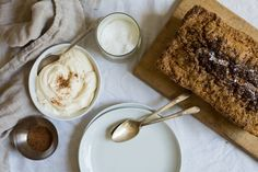 Zucchini Bread with Nutmeg Crème Fraiche // A Smidge Above Next to Nothing