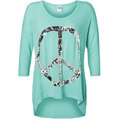 Vero Moda Leo Audrina Cross/Peace 3/4 Top Nfs ($43) ❤ liked on Polyvore