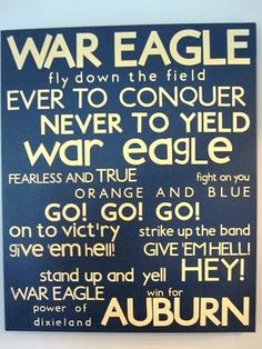 WAR EAGLE!! I cannot wait counting down the days!!!!!! 23 to go!!!!!!!!