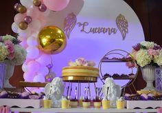 "25 Me gusta, 9 comentarios - Maria del Pilar Núñez Vega (@poshdecobox) en Instagram: ""Detalles de la mesa de dulces para Luciana. Diseño @poshdecobox Fotografía @wsayala . . . . .…"" Baby Shower, Mirror, Table, Instagram, Home Decor, Candy Stations, Mesas, Events, Babyshower"