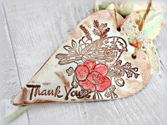 Bird print heart ornament Unique thank you gift by FrivolousCrafts
