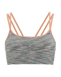 This ultra-feminine bra is ideal for low-impact exercise such as yoga or Pilates. Its seamless all-natural bamboo fabric is extremely soft on skin and has antibacterial properties for an extra fresh feel. With delicate double straps and a v-shaped back, it is designed to give a stunning aesthetic. Subtle ruching over the padded bust adds further shape for instant confidence during workouts.