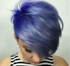 Short Purple Hair, Blue Hair, Short Hair Cuts, Short Hair Styles, Purple Pixie Cut, Pixie Cuts, Short Pixie, Brown Hair, Hot Hair Colors