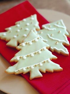 Christmas tree shaped cookies...not my picture but we copied these at Christmas and they came out so cute!