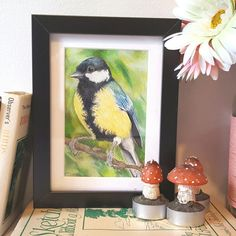 Another new postcard sized piece available in my shop. Loving the end of artist block! Long may it continue Great Tit, Blue Tit, Color Pencil Art, Little My, Postcard Size, Colored Pencils, I Shop, Give It To Me, Birds