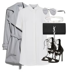 """""""Untitled #2168"""" by elenaday ❤ liked on Polyvore featuring MANGO, French Connection, Yves Saint Laurent, Stuart Weitzman, Christian Dior and Cartier"""