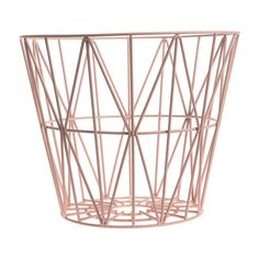 Wire Basket, Small - Rose
