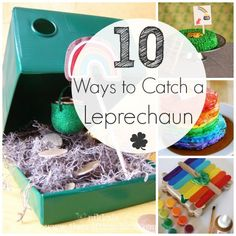 Leprechauns are sneaky little guys! I've rounded up 10 ways to catch a leprechaun. Get your kids involved in the catching for some St. Patrick's Day fun!