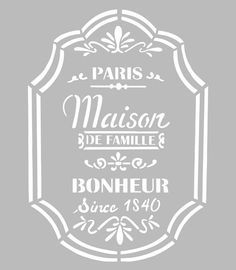 Free Stencils, Stencil Diy, Stencil Painting, Art Template, Templates, Collages D'images, Decoupage, Etiquette Vintage, French Script