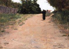 Louis Welden Hawkins (1849 - 1910) - Le Retour au Village