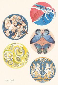 Art And Illustration, Painting Inspiration, Art Inspo, Pretty Art, Art Sketchbook, Chinese Art, Japanese Art, Asian Art, Vector Art