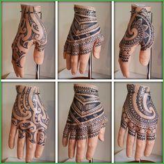 Best Geometric Tattoos And Symbolism Men Henna Tattoo, Tribal Forearm Tattoos, Tatau Tattoo, Tattoo Skin, Armband Tattoo, Black Tattoos, Hand Tats, Hand Tattoos For Guys, Finger Tattoos