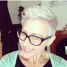 @nando211.  Great cut great color and also #pixieswithglasses are great