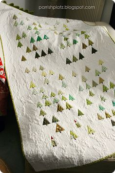 little Forest quilt (with a few gnomes). Tiffany Gayley, idk if you quilt but this would work with your nursery theme!