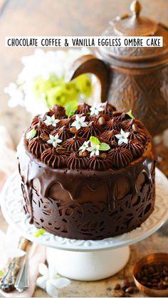 Eggless Cookie Recipes, Eggless Desserts, Chocolate Desserts, No Bake Desserts, Chocolate Cake, Baking Recipes, Cake Recipes, Dessert Recipes, Vegetarian Desserts