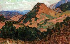 Peinture Algérie - Paysage d'Algérie, Kabylie par Augustin Ferrando
