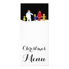 The Christmas Gang Holiday Menu Rack Card