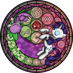 Comission: Stained Glass: Rarity - Spike by Akili-Amethyst on deviantART