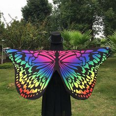 Butterfly Wings Ladies Seaside Cover Ups Nymph Pixie Costume Accessory Women Colorful Soft Fabric Beach Cover Up Fairy