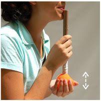 varias ideias muito boas e simples de instrumentos como a flauta d'agua q esta na foto