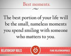 Best Moments. .... Relationship Rules