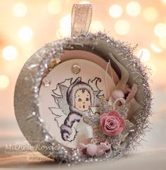 Vintage Christmas Ornament. Blog has detailed directions on how it was created!