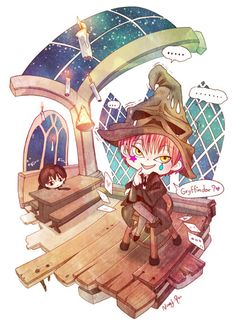 Hunter x Hunter - Hisoka and Illumi #Harry_Potter #sorting_hat