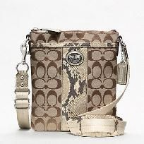 'Authentic Coach Sutton Python Crossbody NWT-F47875-' is going up for auction at  5pm Mon, Dec 24 with a starting bid of $90.