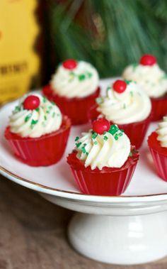 Fireball Whiskey Jello Shot Cupcakes....If I can find a jello withourt gelatin