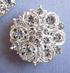 """Wedding Shoe Clips, Bridal  Accessories, """"Silver Petals"""" Christmas Gift, Stocking Stuffer, Formal Holiday Jewelry on Etsy, $27.50"""