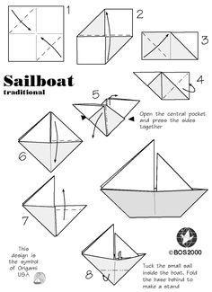 Darbarella: Upcycled Paper Bows and Sailboats