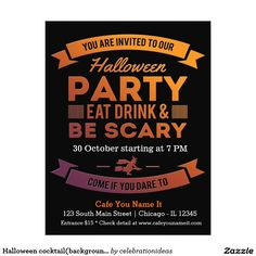 Sold #Halloween #cocktail #flyer Available in different products. Check more at www.zazzle.com/celebrationideas