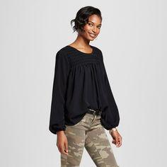 Women's Blouse Black XL - Merona